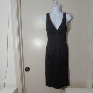 Bebe Slinky Black Evening Dress
